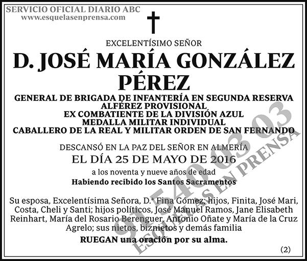 José María González Pérez